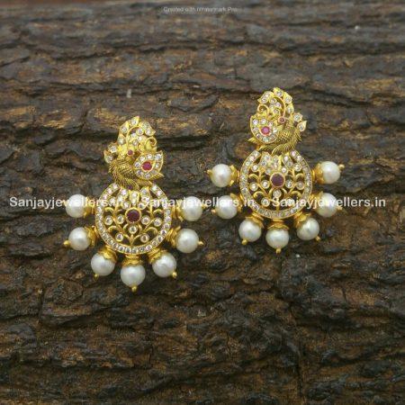 silver jhumky - jhumka - stone jhumki - earrings for kids - small stud - fancy earring - temple jewellery