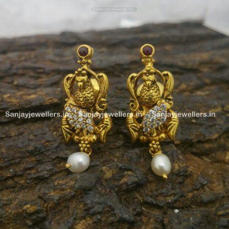 silver jhumky - jhumka - stone jhumki - earrings for kids - small stud - fancy earring