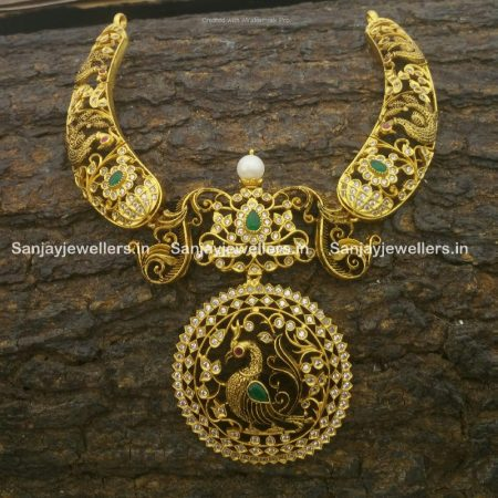 silver necklaces - kundan necklace - temple jewellery necklace