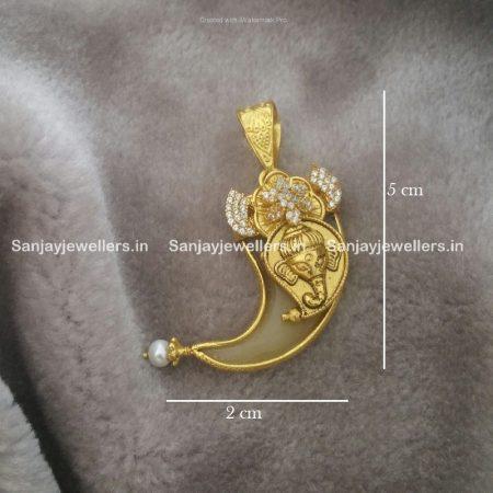 silver pendant - kundan pendent - temple jewellery - pendant for men
