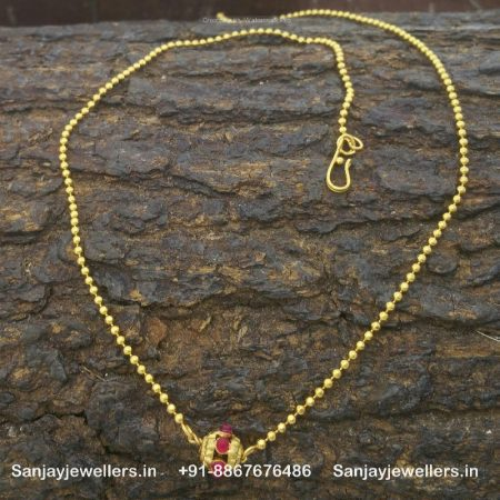 silver gold polished necklace - silver pendant chain
