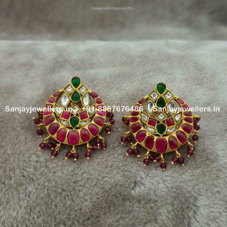 silver earrings - kundan studs - stone jhumky - silver gold polished jhumki - pearl earrings - oxidised polish earrings